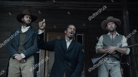 L-R: Armie Hammer, Nate Parker, Jayson Warner Smith