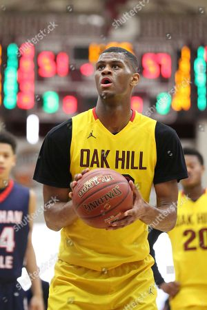 Oak Hill Academy's Billy Preston #23 shoots a free throw against Nathan Hale during the second half of a high school basketball game at the 2017 Hoophall Classic, in Springfield, MA. Nathan Hale won 80-77