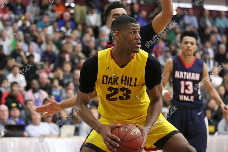 Oak Hill Academy's Billy Preston #23 in action against Nathan Hale during the second half of a high school basketball game at the 2017 Hoophall Classic, in Springfield, MA. Nathan Hale won 80-77