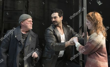 Stock Picture of Jim Bywater as Luka, Doug Rao as Vassily, Katie Hart as Natasha
