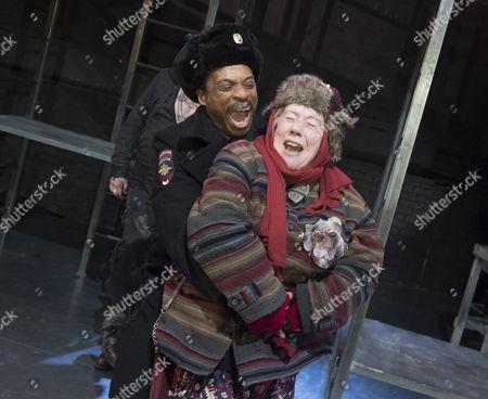 Stock Picture of Jude Akuwudike as Medvyedev, Tricia Kelly as Kvashnia