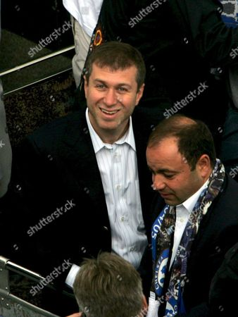 Roman Abramovic Owner of the Chelsea Football Team During the Parade of Their Trophies Won During the 2004-2005 Season Near to Their Home Ground of Stamford Bridge Sunday 22 May 2005 Chelsea Won Their First Premiership Title For 50 Years and Also the Carling Cup Earlier in the Season
