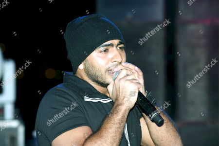 Egyptian Singer Tamer Hosny Performs at an Open-air Concert Held in Marsa Alam Resort On the West Coast of the Red Sea Egypt 05 October 2008