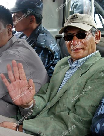 Charles Sobhraj is Taken From Central Jail On His Way to District Court in Katmandu Nepal Monday 5 July 2004 Sixty-four-year-old Sobhraj Was Arrested in a Casino On 19 September 2003 in Kathmandu Shobhraj Was Present at Court Today Alleged to Have Murdered Two Foreigners in Nepal Almost Three Decades Ago Over Nine Months After Sobhraj Who Present Among the Media Person Said That 'I Will Release Soon'