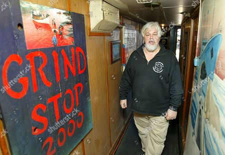 Stock Picture of Captain Paul Watson From Canada Walks Below Deck Onboard the Canadian Flagged Vessel Farley Mowat Detained by South African Authorities in Cape Town Harbour Thursday 26 January 2006 the Canadian Registered Ship Owned by the Activist Sea Shepherd Conservation Society Was Detained When It Docked Two Days Ago After Returning From the Antarctic On a Mission of Detering Japanese Whalers