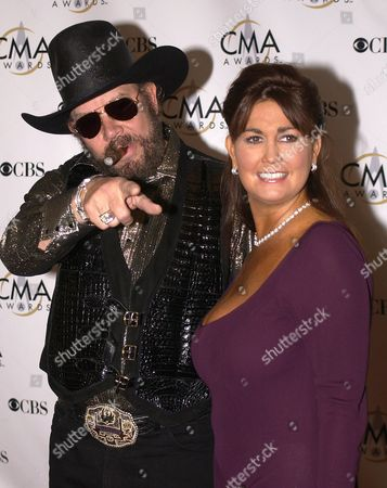 Country Music Star Hank Williams Jr and His Wife Mary Jane Arrive at the Grand Ole Oprey House For the Country Music Awards Wednesday 05 November 2003 in Nashville Tennessee