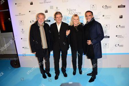 Stock Image of Pierre Gagnere, Gerard Leclerc, Julie Leclerc, Nikos Aliagas