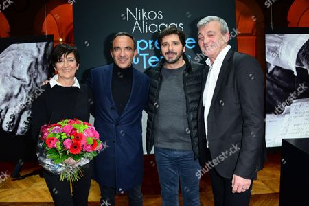 Stock Image of Laurence Lemarchal, Nikos Aliagas, Patrick Fiori, Pierre Lemarchal