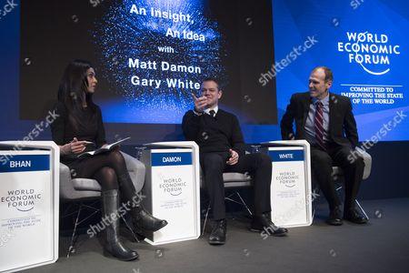 Matt Damon, Gary White and Bhan Shereen