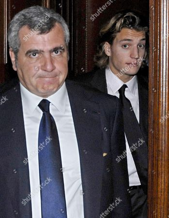Jean Sarkozy (r) Son of French President Nicolas Sarkozy with Lawyer Thierry Hertzog (l) Leaving Court in Paris France 04 December 2007 Jean Sarkozy Came to the Publics Attention After Allegedly Crashing His Scooter Into the Back of a Bmw Whose Occupant Pressed Charges of Reckless Driving and Fleeing the Scene of an Accident