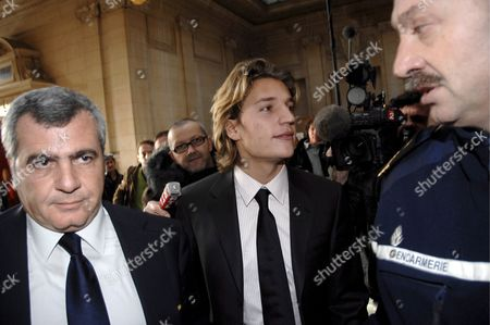 Jean Sarkozy (c) Son of French President Nicolas Sarkozy with Lawyer Thierry Hertzog (l) Arrives in Court in Paris France 04 December 2007 Jean Sarkozy Came to the Publics Attention After Allegedly Crashing His Scooter Into the Back of a Bmw Whose Occupant Pressed Charges of Reckless Driving and Fleeing the Scene of an Accident