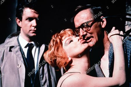 'Bitter Harvest'   -  Jennie Jones (Janet Munro) kisses Charles (Colin Gordon) as Bob Williams (John Stride) looks on.
