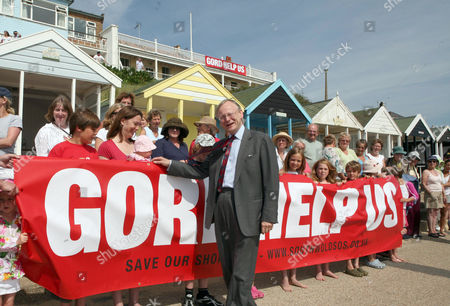 Local MP John Selwyn Gummer with protesters