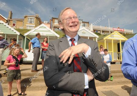 Editorial image of Protest against the policy of stopping funds for the area to protect the coastline from erosion, Southwold, Suffolk, Britain - 30 Jul 2008