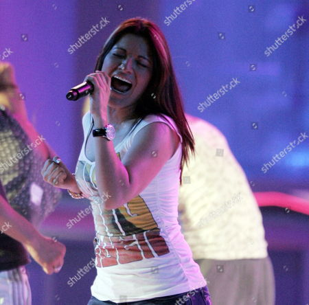 Diana Reyes Rehearses For the 2007 Billboard Latin Music Awards at the Bank United Center Coral Gables Florida 24 April 2007 the Latin Billboards Will Be Broadcast Live by Telemundo 26 April