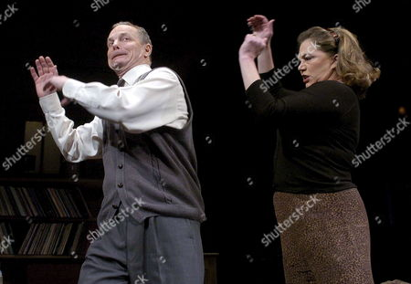 Stock Photo of Hollywood Actress Kathleen Turner and Leading Man Bill Irwin Pictured Late Thursday 26 January 2006 During Final Rehearsals For Edward Albee's Play 'Who's Afraid of Virgignia Woolf' Which Opens at the Apollo Theatre in London Tuesday 31 January 2006 the Play Directed by Anthony Page Was Made Famous by Liz Taylor and Richard Burton Who Starred in the 1966 Film Version