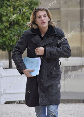 Jean Sarkozy Eldest Son of French President Nicolas Sarkozy Arrives at Elysee Palace in Paris France 25 October 2007 Jean is One of Two Sons From Sarkozy's First Marriage