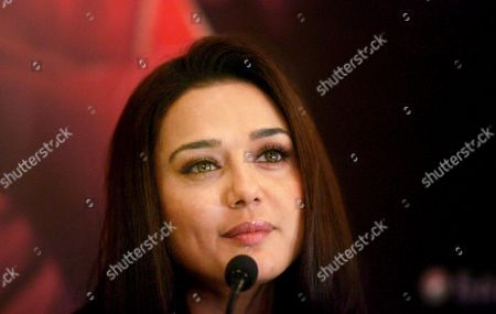 Indian Bollywood Actress Preity Zinta Addresses the Media in New Delhi India 13 March 2009 Zinta Was in New Delhi For the Promotion of Her Upcoming Film 'Videsh - Heaven On Earth' by Indian-born Canadian Film Director and Screenwriter Deepa Mehta the Film Has Already Been Released in Canada and is Scheduled to Be Released in India On 27 March 2009