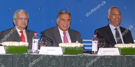 Ravi Kant (l) Managing Director Tata Motors Ratan Tata (c) Chairman Tata Group and Tata Motors and P M Telang Executive Director Commercial Vehicles of Tata Motors Address a Press Conference to Announces the Launch of Tata Nano in Mumbai India 23 March 2009 Tata Motors On 23 March Announced the Commercial Launch of the Tata Nano Keenly Awaited Across India Since Its Unveiling On 10 January 2008 Speaking at a Press Conference Chairman Ratan Tata Said 'The Nano Represents the Spirit of Breaking Conventional Barriers' the Tata Nano is Currently Being Manufactured at the Company's Pantnagar Plant in Indian State of Uttarakhand in Limited Numbers the New Dedicated Plant at Sanand in Gujarat Will Be Ready in 2010 with an Annualised Capacity of 350 000 Cars the Inaugural Price of Rs 100 000 ($2 000) at the Factory Gate Which Makes the Nano the World's Cheapest Car