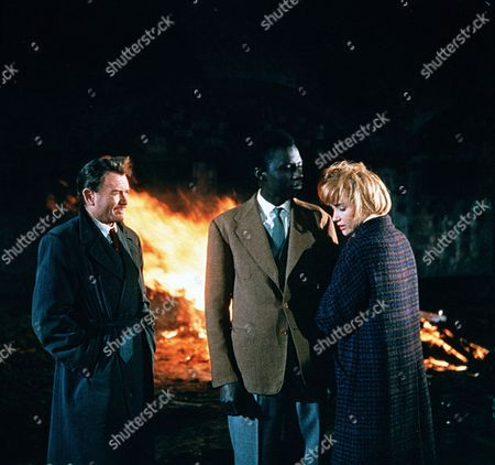 'Flame in the Streets' - Jacko Palmer (John Mills), Kathie Palmer (Sylvia Syms) and Peter Lincoln (Johnnie Sekka)