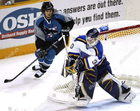Editorial photo of Usa Nhl Playoffs Blues  -  Sharks - Apr 2004