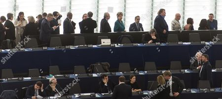European Parliament members wait to vote fo r the new EP President at the European Parliament in Strasbourg, France, 17 January 2017. Today the Parliament vote for a new president, as Martin Schultz announced that he will run for German Parliament in the upcoming German elections.
