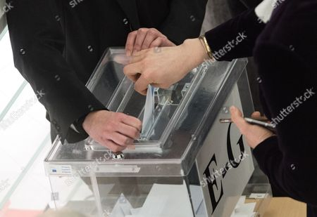 The European Parliament member casts his ballot during voting for the new EP President at the European Parliament in Strasbourg, France, 17 January 2017. Today the Parliament vote for a new president, as Martin Schultz announced that he will run for German Parliament in the upcoming German elections.