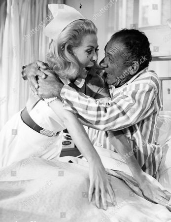 'Carry On Doctor'   Film Valerie Van Ost and Sid James
