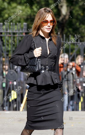 Celebrity Tara Palmer Tompkinson Arrives at the Memorial Service For the Stylist Isabella Blow Who Died Earlier This Year at the Guard's Chapel in London On 18 September 2007 Ms Blow Was the Discoverer of Designers Philip Treacy and Alexander Mcqueen