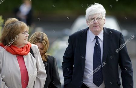Michael Gallagher Spokeman For the Omagh Bomb Victims' Relatives - Who Also Lost His Son Aiden in the Bombings - Arrives with His Wife Patsy at Craigavon Magistrates Court House in Northern Ireland Thursday 26 May 2005 He Later Watched As 35 Year Old South Armagh Electrician Sean Gerard Hoey Was Remanded in Custody Charged with 61 Offences Relating to the Omagh Bombing Including 29 Murders