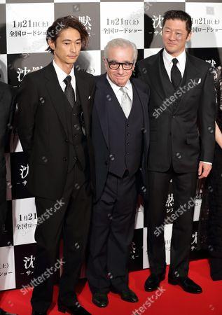 Yosuke Kubozuka, Martin Scorsese and Tadanobu Asano