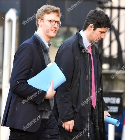 Tim Smith No10 Aide (glasses) and Tom Swarbrick (pink Tie) Number 10 head of broadcast