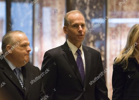 Dennis A. Muilenburg, Boeing president and chief executive officer, arrives for a meeting in Trump Tower in New York City, NY, USA, 17 January 2017. US President Elect Donald Trump is still holding meetings upstairs at Trump Tower just 3 days before the inauguration.