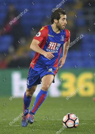 Mathieu Flamini of Crystal Palace during the Emirates FA Cup Third Round Replay between Crystal Palace and Bolton Wanderers played at Selhurst Park, London on 17th January 2017