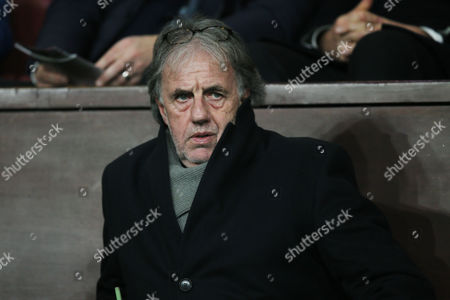 Stock Picture of Mark Lawrenson in the crowd before the Emirates FA Cup 3rd Round replay match between Burnley and Sunderland played at Turf Moor, Burnley, on 17th January 2017