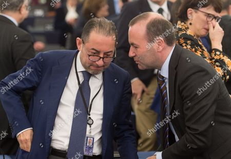 Stock Picture of Gianni Pitella and Manfred Weber