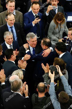 Antonio Tajani and Gianni Pittella