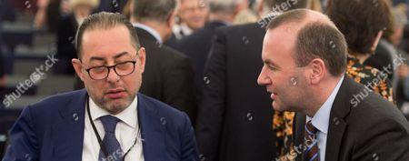 Gianni Pitella and Manfred Weber