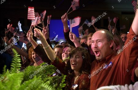 Supporters Celebrate Republican Senator Elect From Tennessee Bob Corker's Victory Over Harold Ford Jr at His Election Night Party at the Chattanoogan Ballroom in Chattanooga Tennessee Early Wednesday Morning 08 November 2006