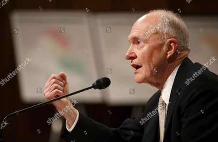 Former National Security Advisor Brent Scowcroft Testifies Before the Senate Foreign Relations Committee During a Hearing On Iraq On Capitol Hill in Washington Dc On Thursday 01 February 2007