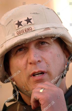 Major General Raymond T Odierno Commander of the 4th Infantry Division (id) Speaks with Reporters After a Transfer of Authority Ceremony in Tikrit Iraq On Tuesday 16 March 2004 the 1st Id Officially Took Control of the 4th Id's Area of Operations Today Which Encompasses Most of the Sunni Triangle