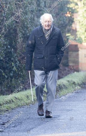 Editorial photo of Frank Bough out and about, Berkshire, UK - 17 Jan 2017
