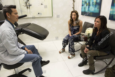 """Stock Photo of """"Woman Is The Something Of The Something"""" Episode 4, (l-r) Ivan Shaw, Alysia Reiner, Pamela Adlon."""