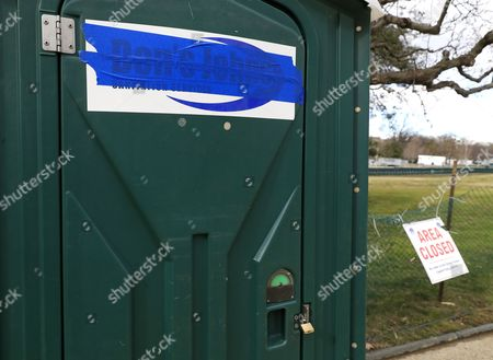 A Portable Toilet With A Taped Over Name On The National Mall Two Days  Before ...
