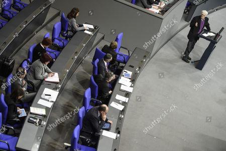 Editorial image of German parliament debate on public security, Berlin, Germany - 18 Jan 2017
