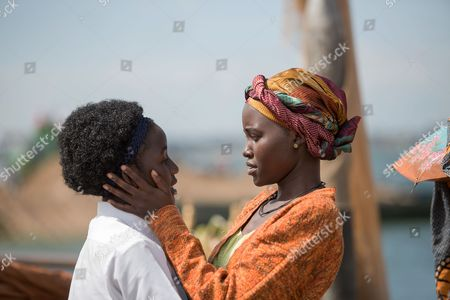 l-r Madina Nalwanga, Lupita Nyong'o