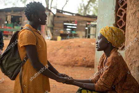 l-r Lupita Nyong'o, Madina Nalwanga