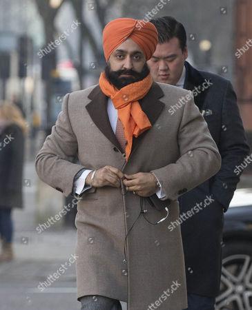 Peter Singh Virdee leaves Westminster Magistrates Court