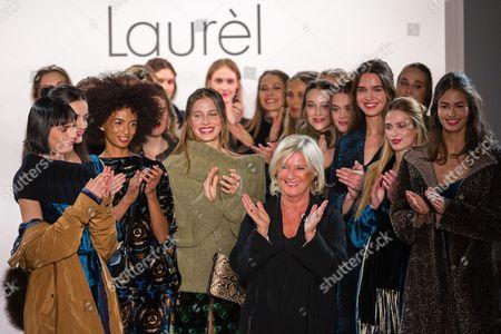 Designer Elisabeth Schwaiger with models