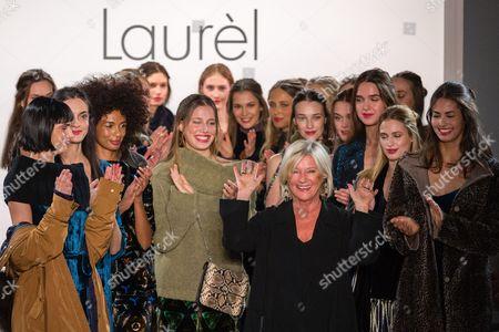 Stock Image of Designer Elisabeth Schwaiger with models